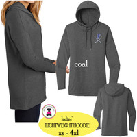 FANIN COUNTY - Ladies' Lightweight Hoodie - Coal