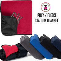 Monogrammed Poly/Fleece Stadium Blanket - FREE SHIP