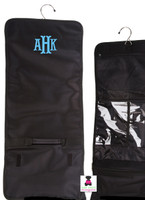 MONOGRAMMED BLACK HANGING COSMETIC CASE