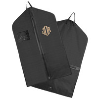 Monogrammed Hanging Garment Bag for Dress/ Suit  - Black - FREE SHIP