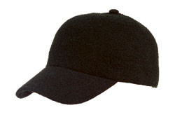 Black Cotton Terry Knit Cap