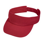 Red Cotton Visor