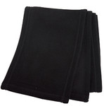 Black Eco Friendly Polar Fleece Scarf