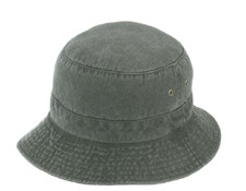 Black CP3990 Garment Washed Pigment Dye Bucket Hat | Toque.ca