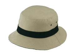 Khaki/Black Bucket Hat
