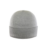 Grey Melange - AC1013 Acrylic Bi-Colors Yarn Twisted Toque With Cuff | Toque.ca