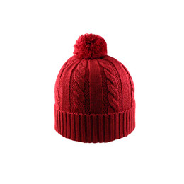 Red -  WY2610 Fully Fashioned Cable Knit Toque | Toque.ca