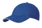 Royal/White Brushed Cotton Stretchable Fitted Cap