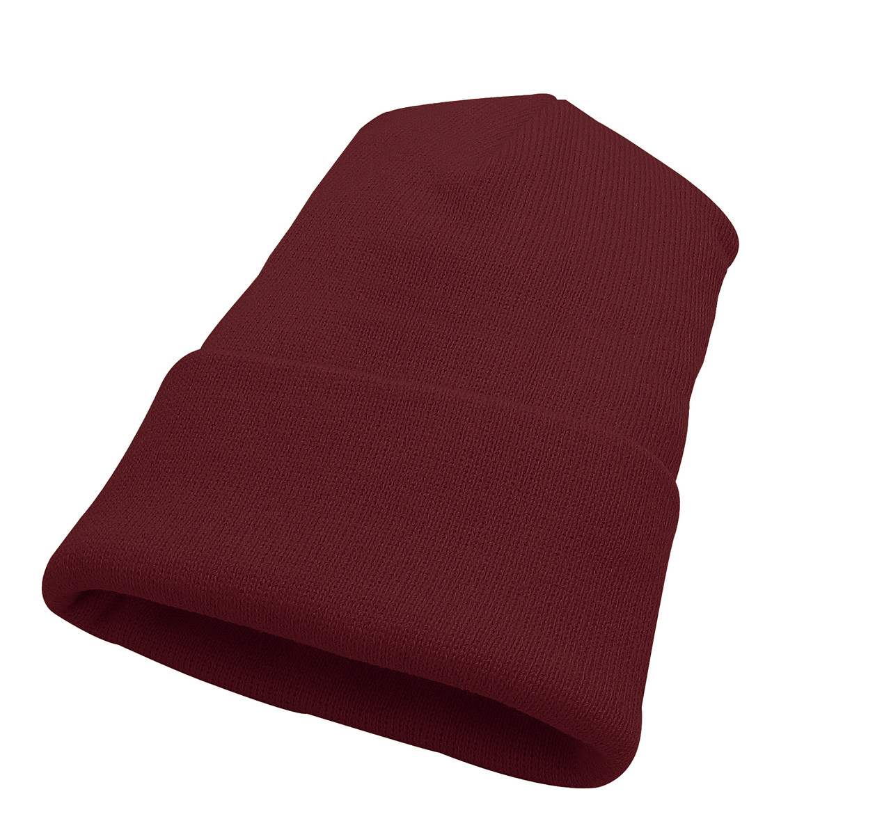 393c2339044 Burgundy AC1010 Acrylic Knit Winter Toque with Cuff