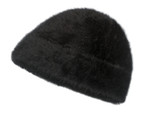 Black Angora Fur Toque