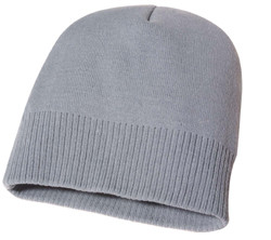 Grey AC2940 Acrylic Knit Toque with Rib Hem | Toque.ca