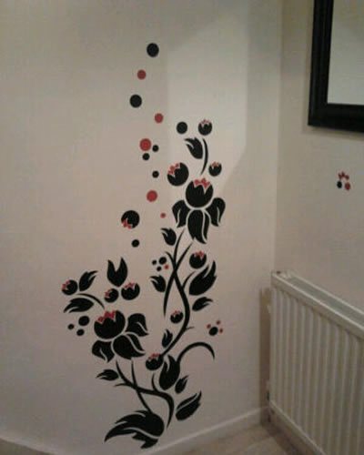 bubble flower wall sticker