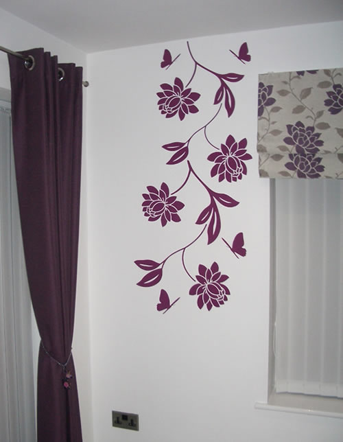 Chrysanthemum Flower Wall Sticker
