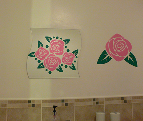 funky rose wall sticker