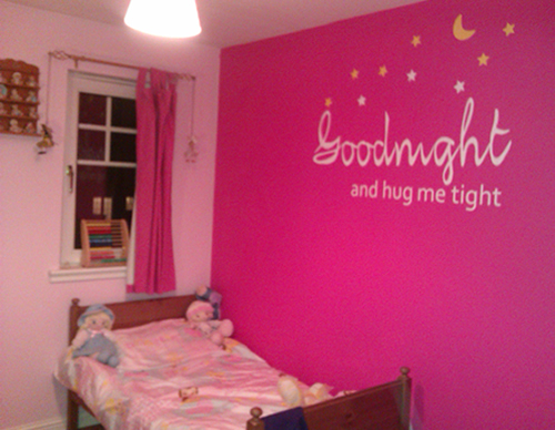 goodnight sleep tight wall sticker
