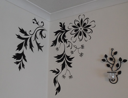 Stylish Flower and Leaf Wall Stickers