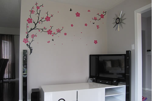 plum blossom wall sticker