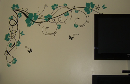 Vine Flower Wall Stickers