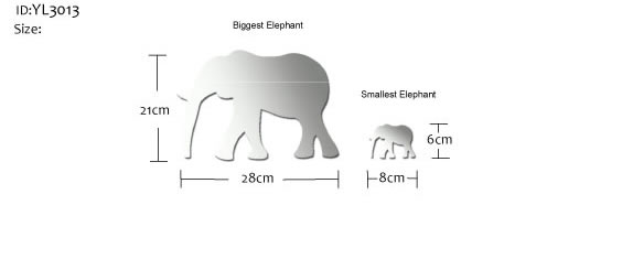 african elephant mirror wall stickers