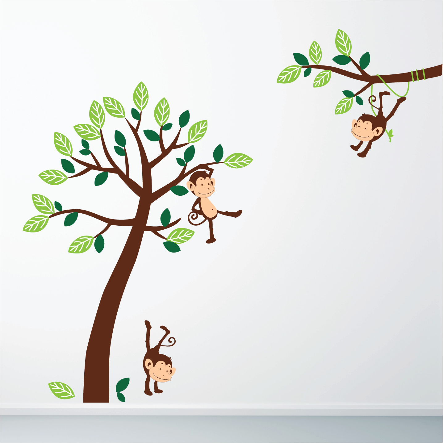 monkey jungle wall sticker