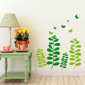 grass butterflies wall stickers