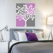 Canvas Style Tree Wall Sticker 5031