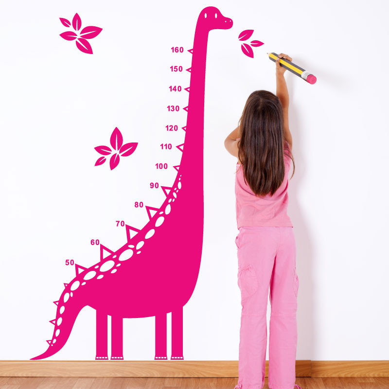 dino height chart kids wall sticker 5034 - stickers wall