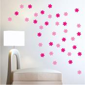 30 Flower Wall Stickers 6016