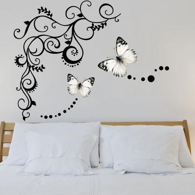 butterfly vine wall sticker