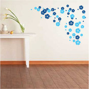 Heart flower wall sticker