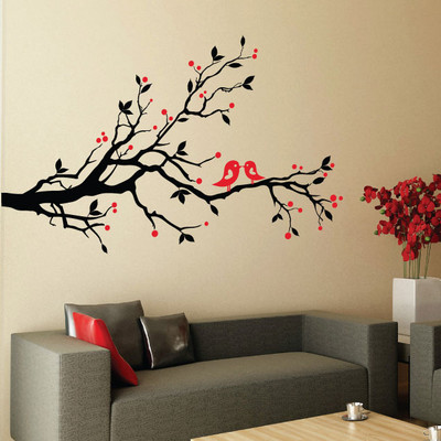 Bird and Blossom Wall Sticker