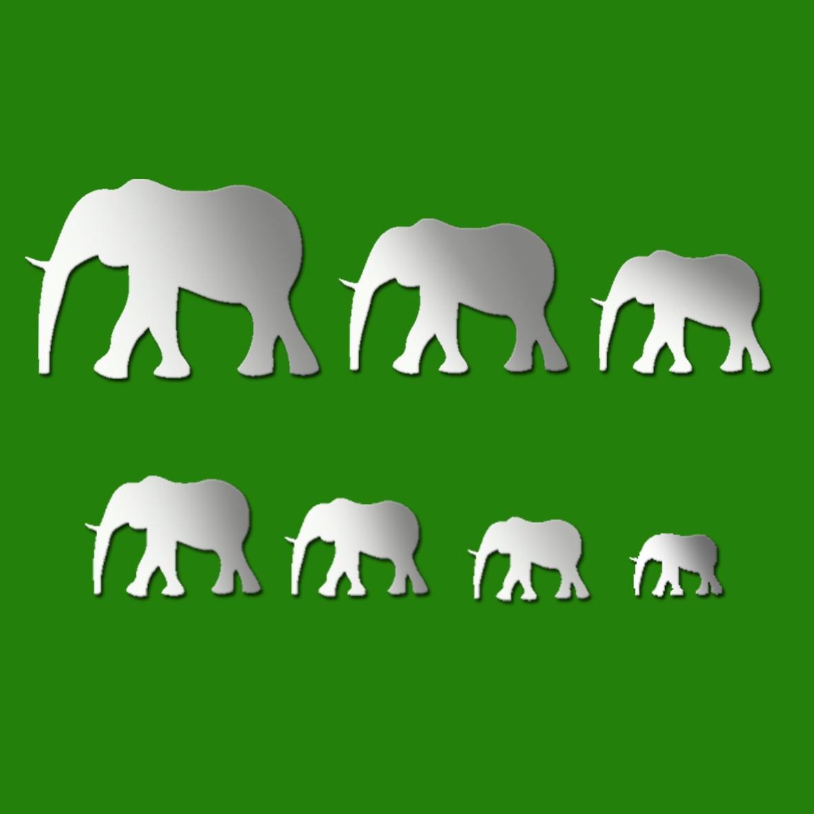 African Elephant Wall Mirror