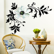 Flower wall sticker