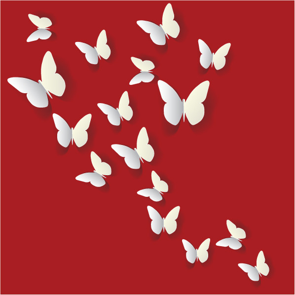 3d butterfly wall stickers 7008 - stickers wall