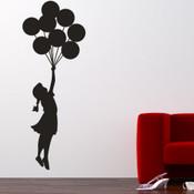 Banksy Balloon Floating Wall Sticker