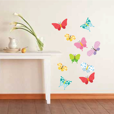 colour butterflies wall stickers