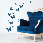 blue monarch butterfly wall stickers