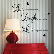 live laugh love wall quotes stickers