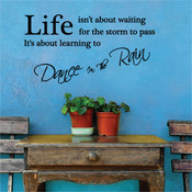 dance in the rain wall quotes stickers