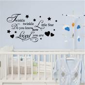 twinkle twinkle little star wall sticker
