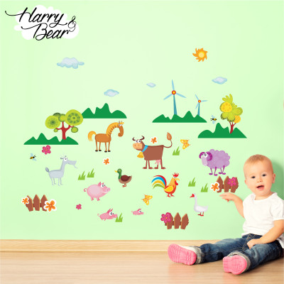 farm animal wall stickers