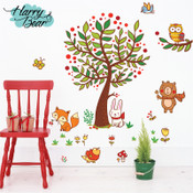 Large Tree & Animal Wall Stickers 1005