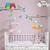 Tree and owl wall stickers
