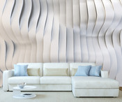 3D Effect Wave Art Wall Mural
