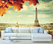 Paris Eiffel Tower Cityscape View Wall Mural