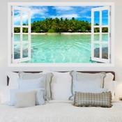 Beach Island Resort 3D Wall Sticker 5301-1003