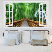 Bamboo Tree Pathway 3D Wall Sticker 5301-1011