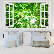 Green Forest Viewing Above 3D Wall Sticker 5301-1013