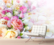 Colourful Roses Wall Mural