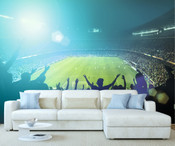 Fans Football Stadium Wall Mural
